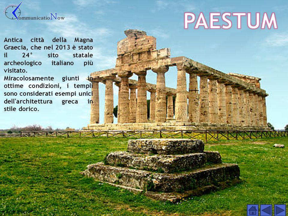 PAESTUM Antica città della Magna Graecia, che nel 2013 è stato il 24° sito statale archeologico italiano più visitato.