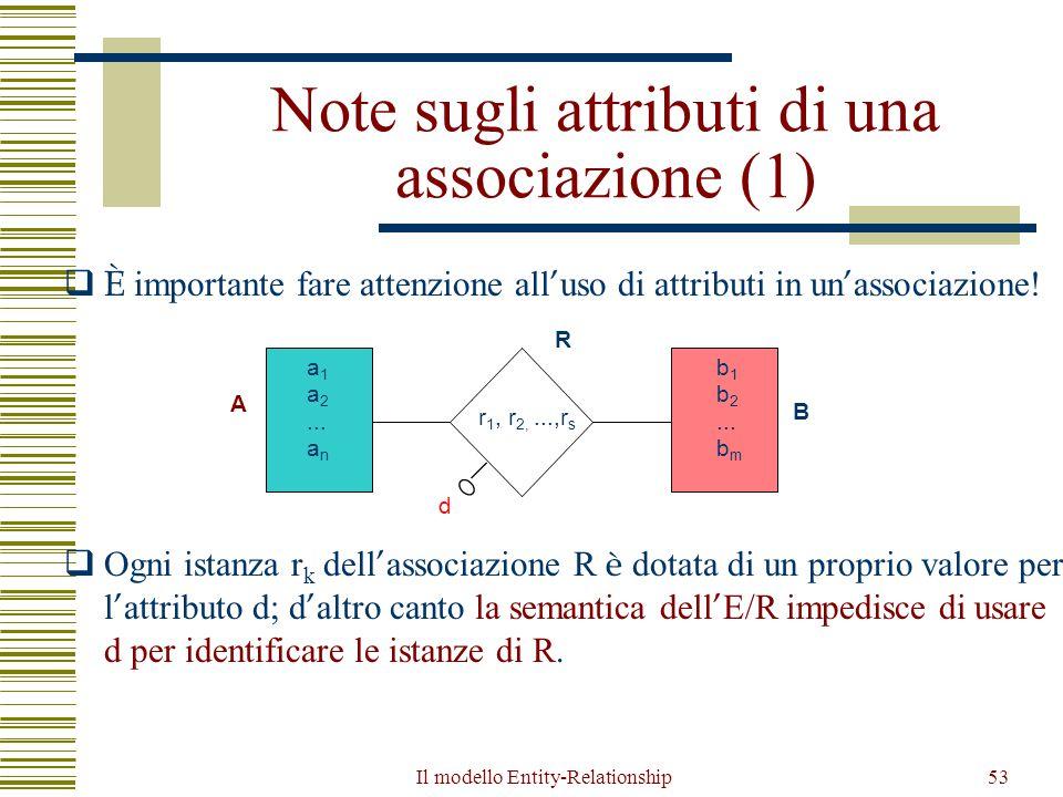 Note sugli attributi di una associazione (1)