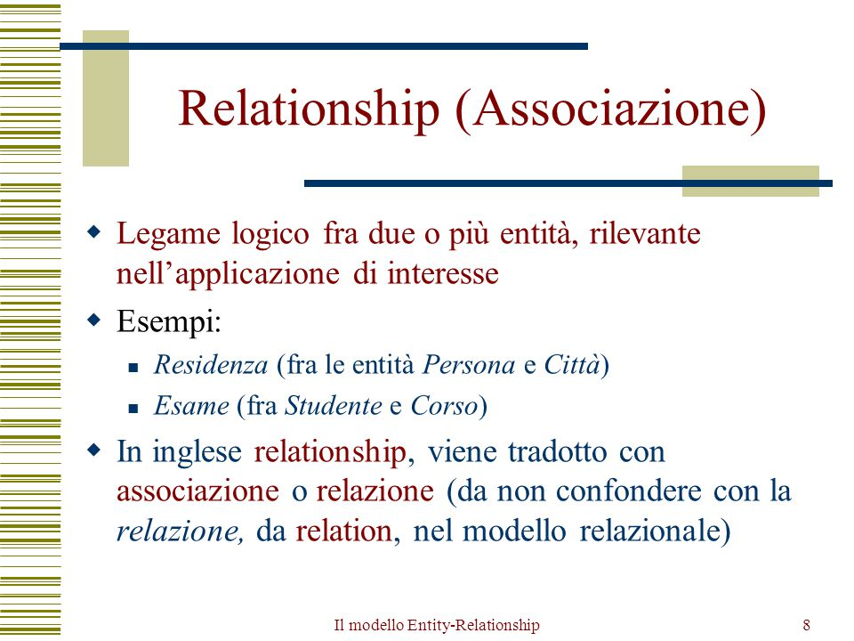 Relationship (Associazione)