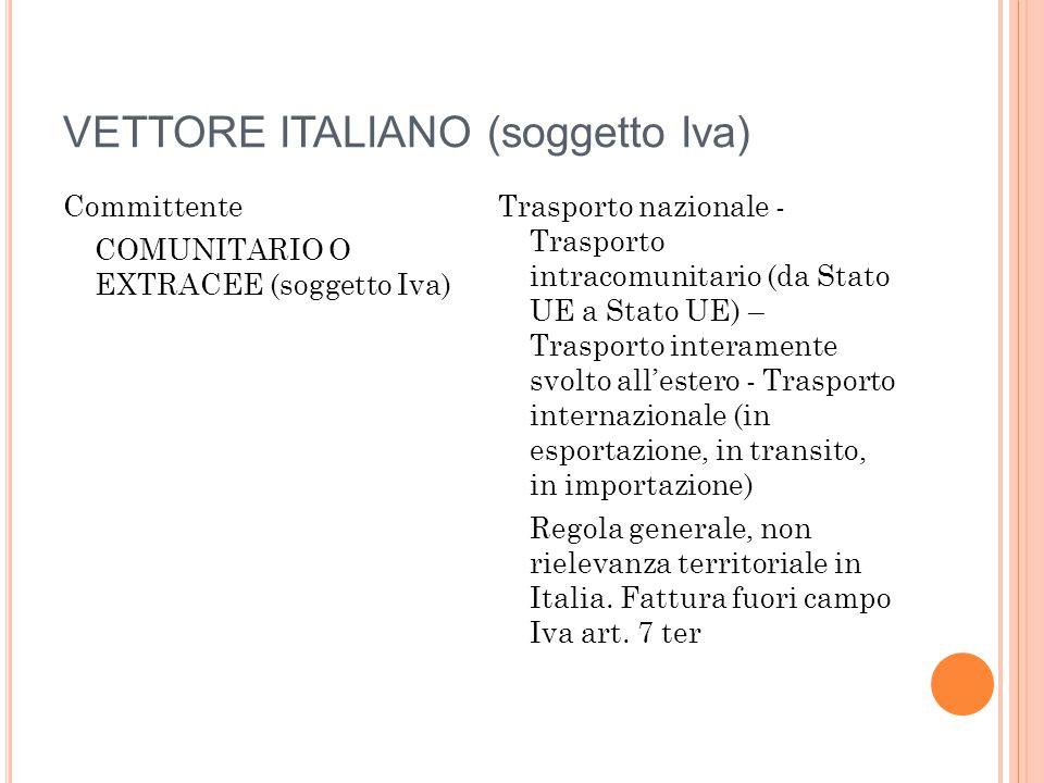 VETTORE ITALIANO (soggetto Iva)