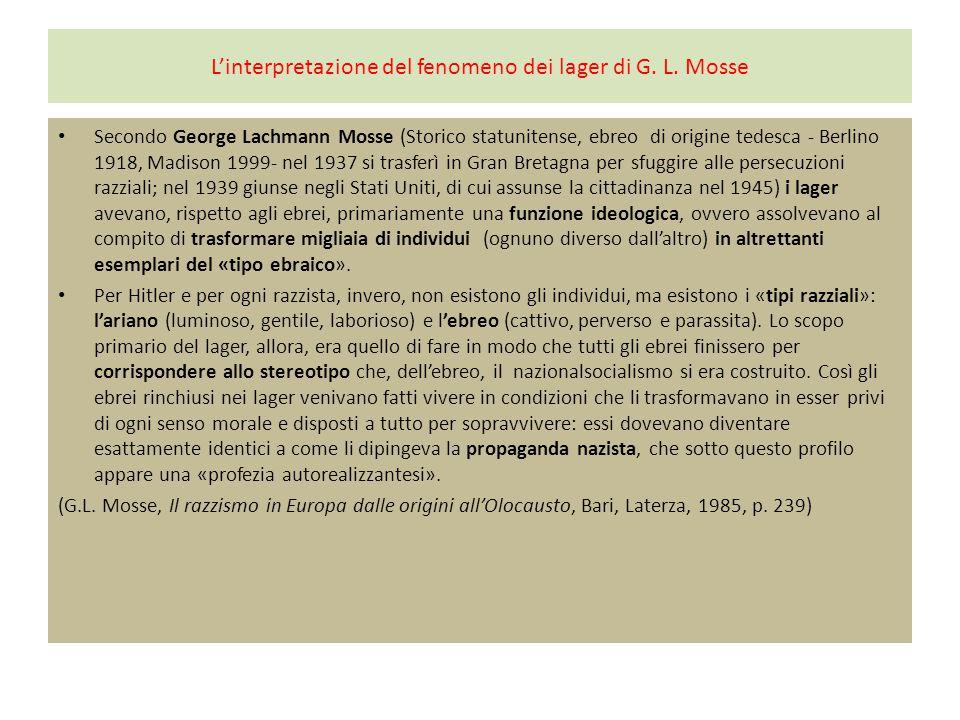 L'interpretazione del fenomeno dei lager di G. L. Mosse