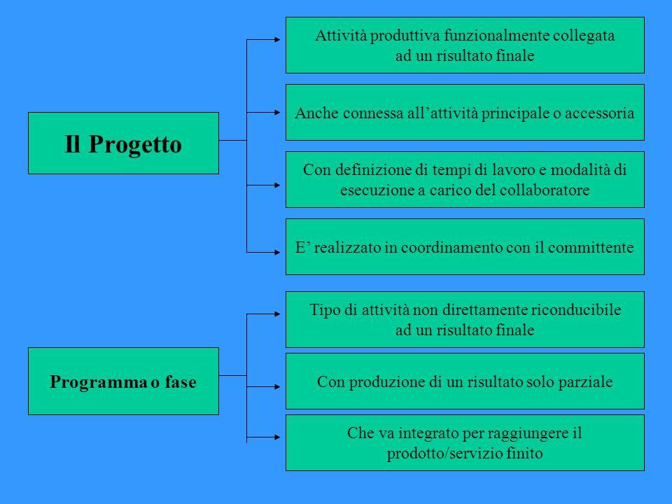 Il Progetto Programma o fase