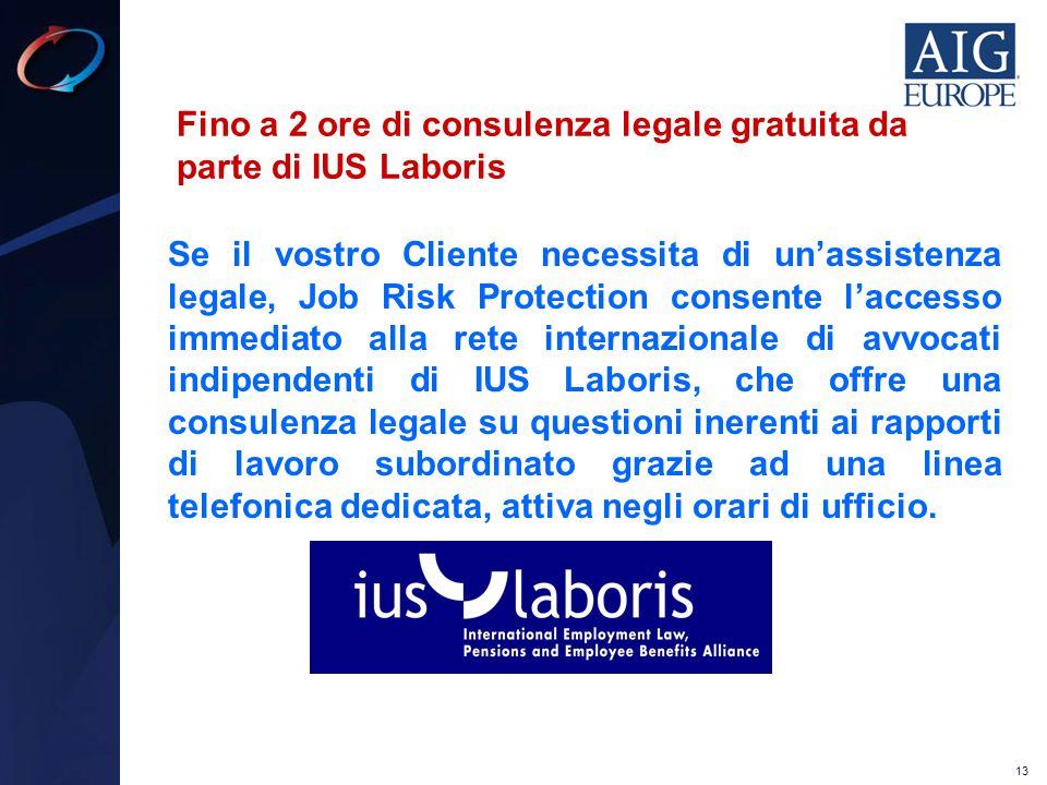 Fino a 2 ore di consulenza legale gratuita da parte di IUS Laboris