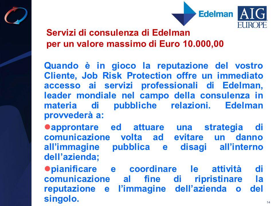 Servizi di consulenza di Edelman per un valore massimo di Euro 10