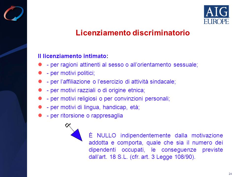 Licenziamento discriminatorio