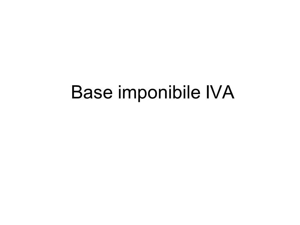 Base imponibile IVA