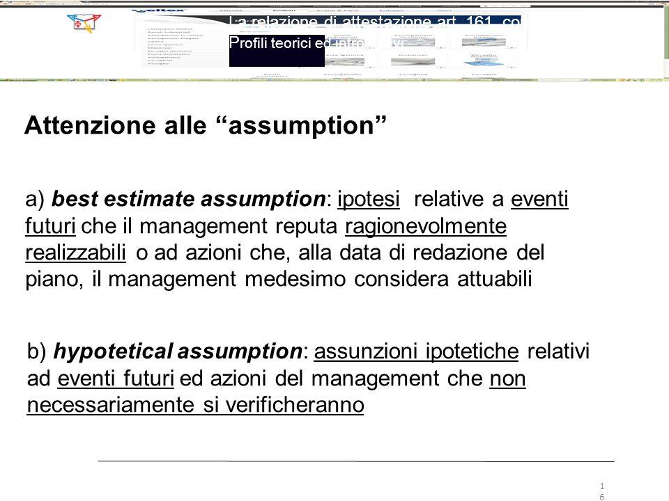 Attenzione alle assumption