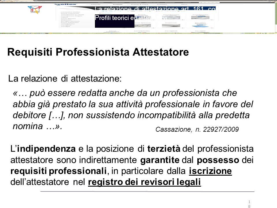 Requisiti Professionista Attestatore