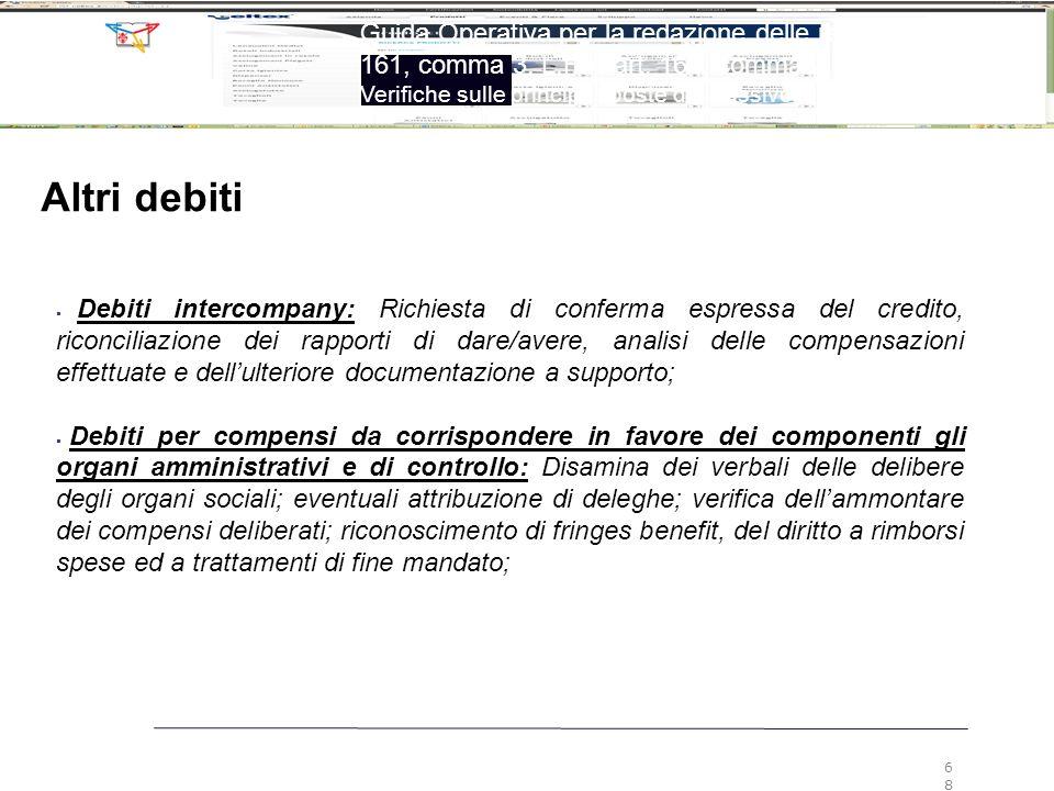 6868 Guida Operativa per la redazione delle relazioni ex art. 161, comma 3, L.F. e art. 160, comma 2, L.F.