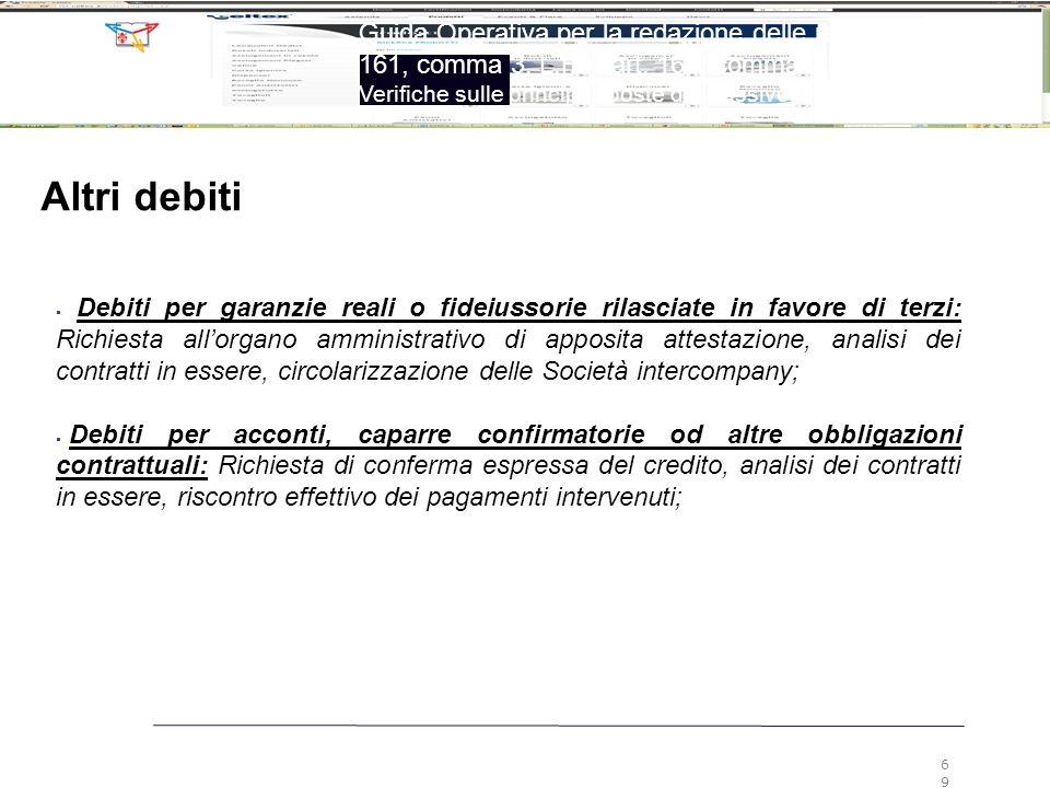 6969 Guida Operativa per la redazione delle relazioni ex art. 161, comma 3, L.F. e art. 160, comma 2, L.F.