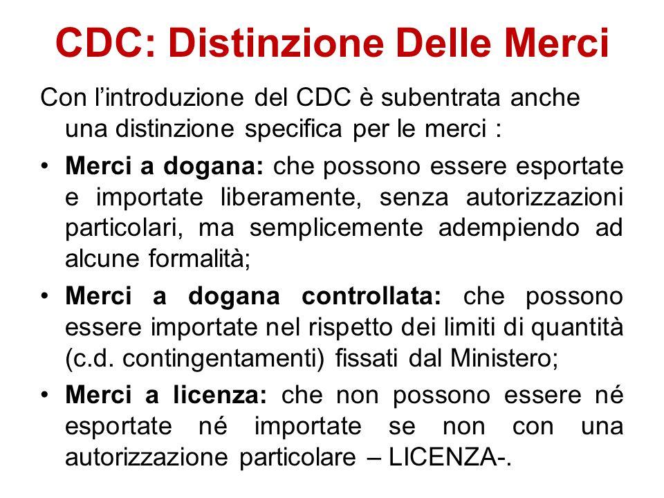 CDC: Distinzione Delle Merci