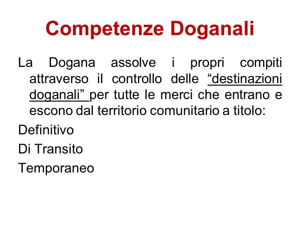 Competenze Doganali