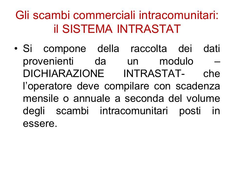 Gli scambi commerciali intracomunitari: il SISTEMA INTRASTAT