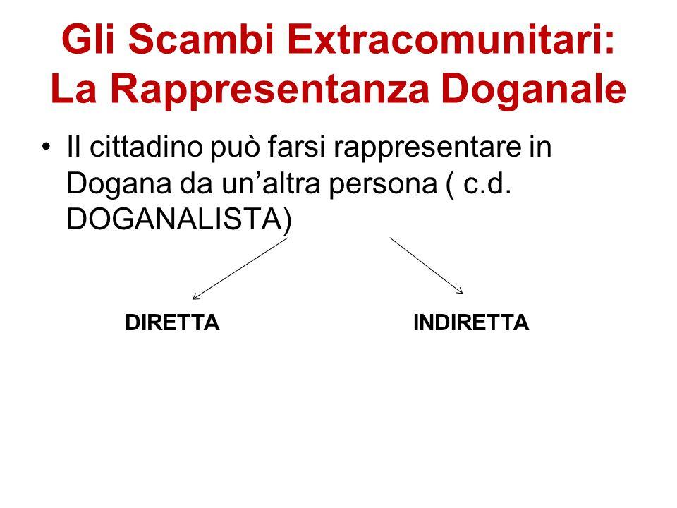 Gli Scambi Extracomunitari: La Rappresentanza Doganale