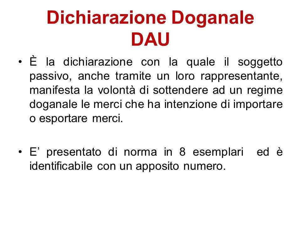Dichiarazione Doganale DAU