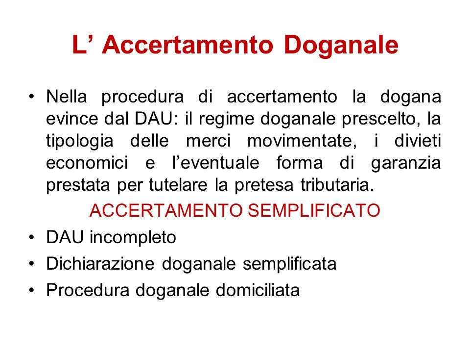 L' Accertamento Doganale