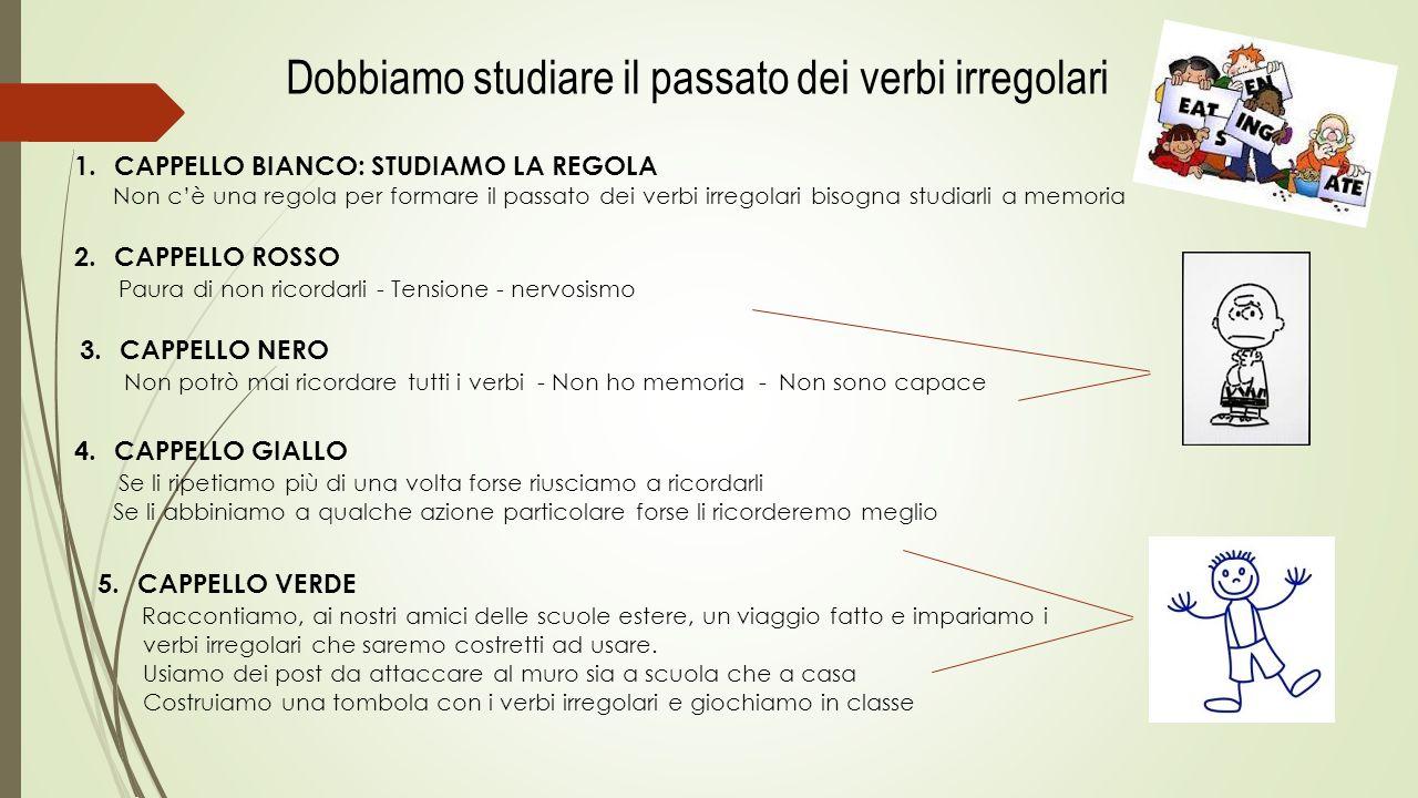 Dobbiamo studiare il passato dei verbi irregolari