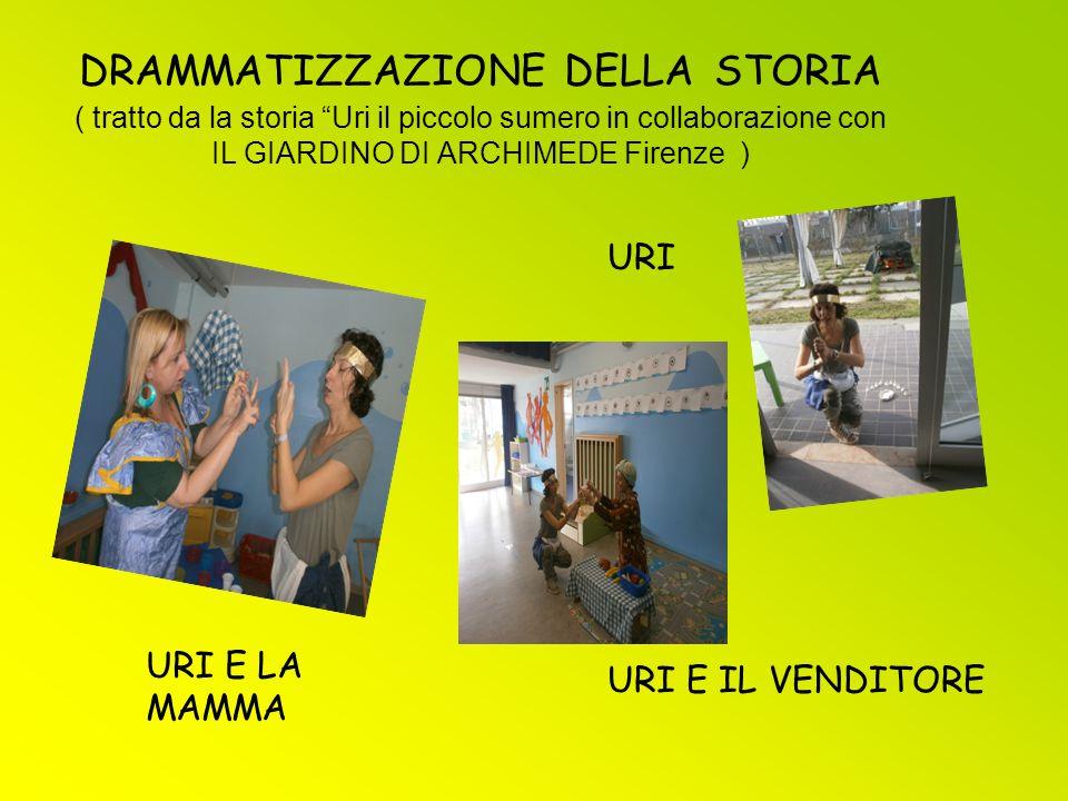 DRAMMATIZZAZIONE DELLA STORIA ( tratto da la storia Uri il piccolo sumero in collaborazione con IL GIARDINO DI ARCHIMEDE Firenze )