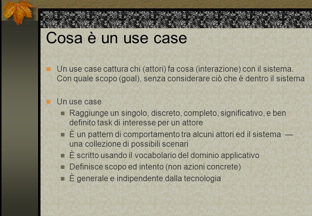 Cosa è un use case