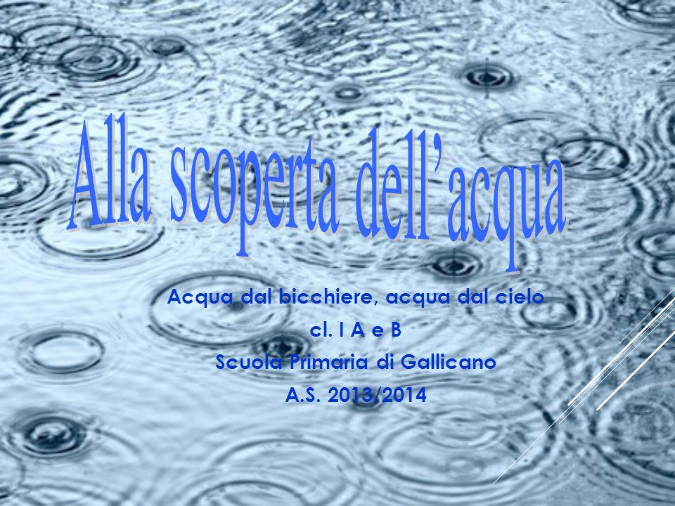 Acqua dal bicchiere, acqua dal cielo Scuola Primaria di Gallicano