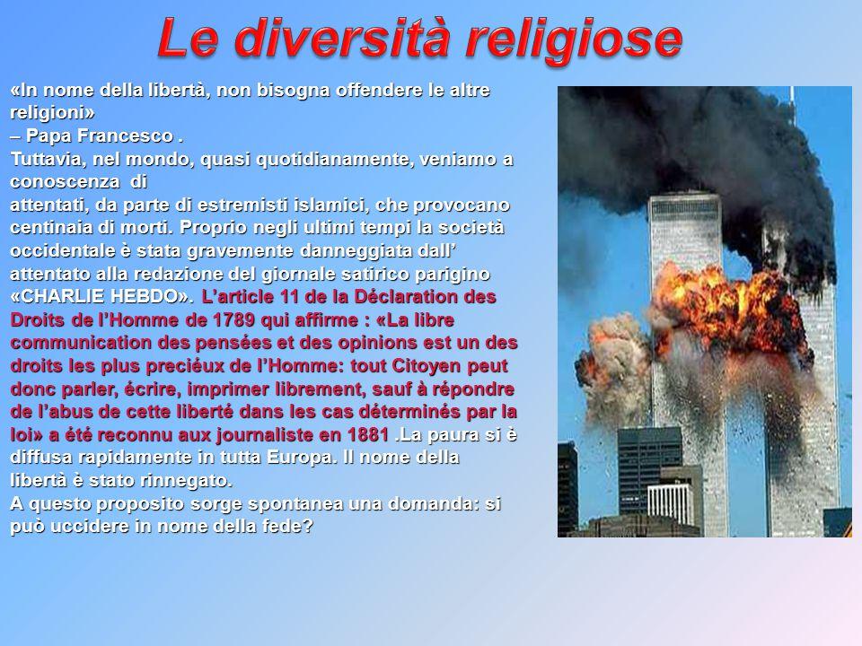 Le diversità religiose