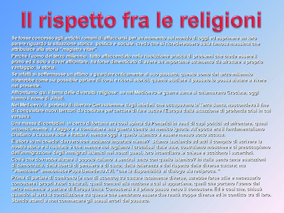 Il rispetto fra le religioni