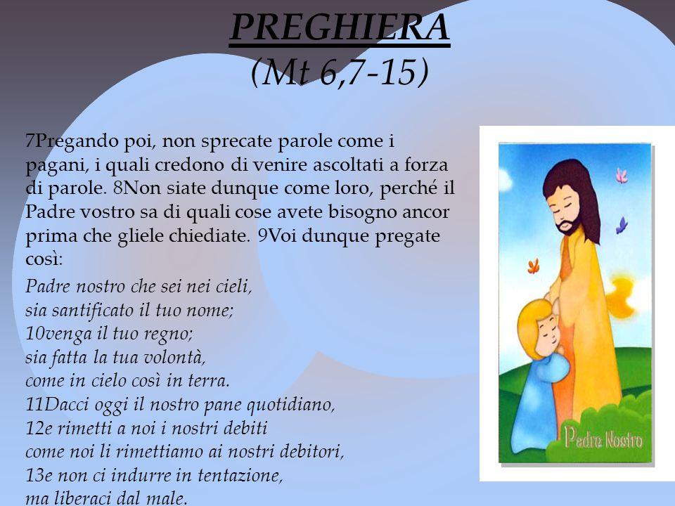 PREGHIERA (Mt 6,7-15)