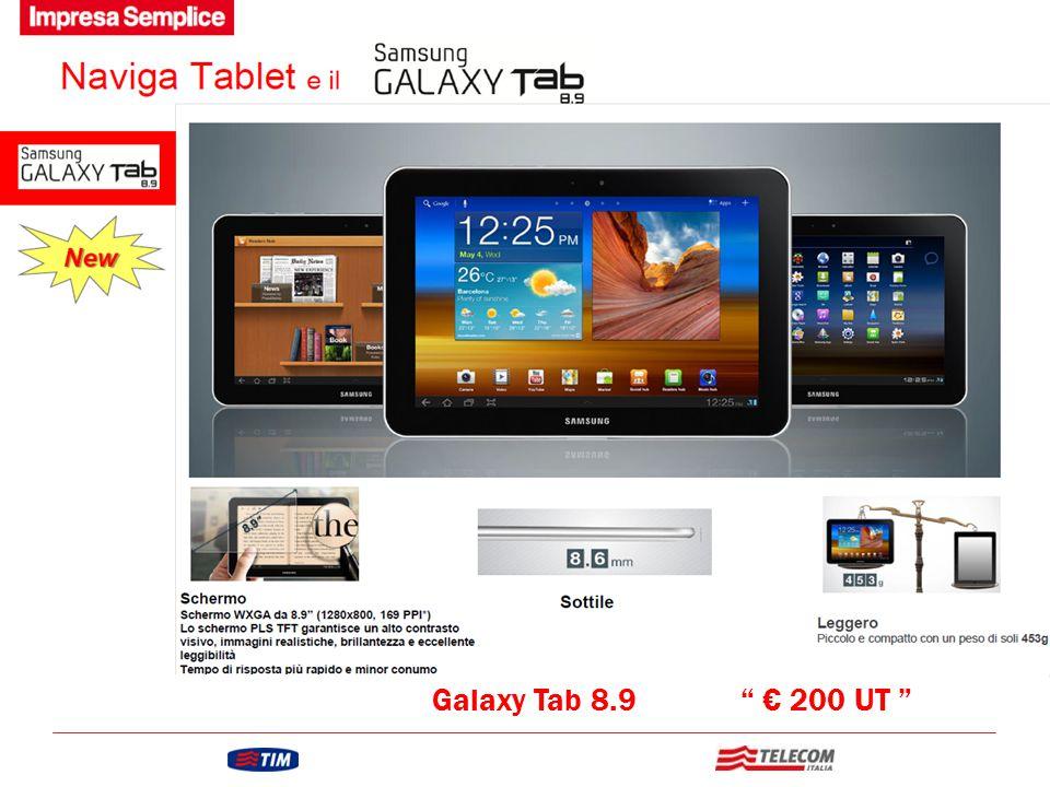 Galaxy Tab 8.9 € 200 UT