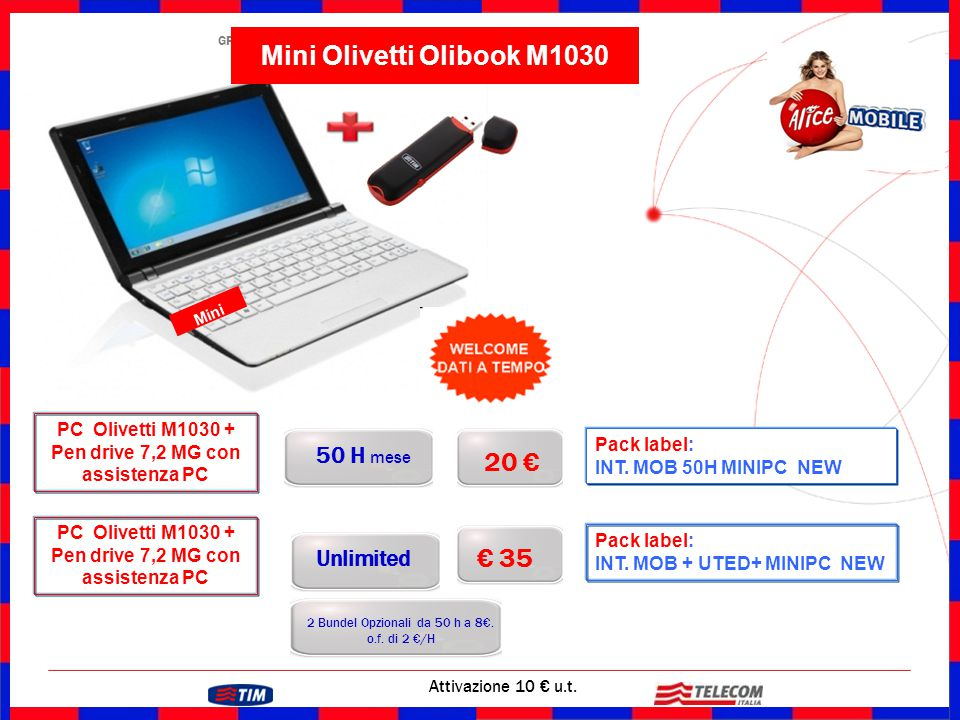 Mini Olivetti Olibook M1030