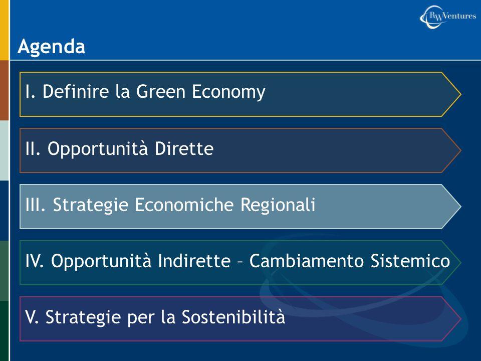 Agenda I. Definire la Green Economy II. Opportunità Dirette