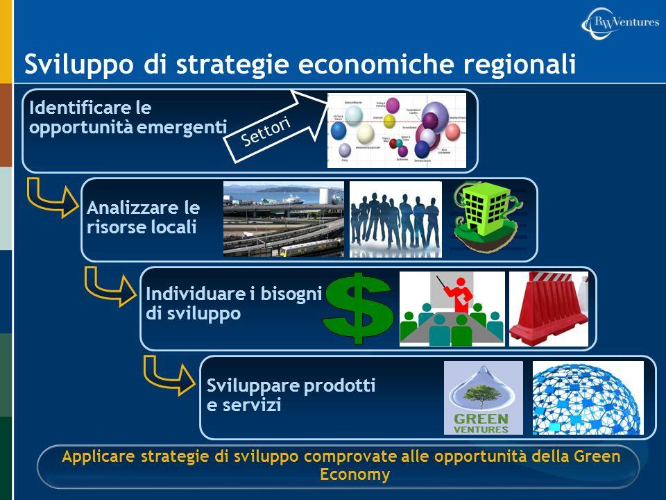 $ Sviluppo di strategie economiche regionali