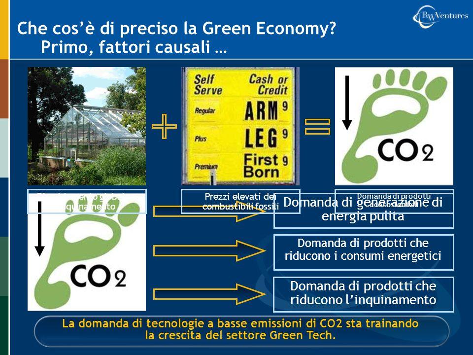Che cos'è di preciso la Green Economy Primo, fattori causali …