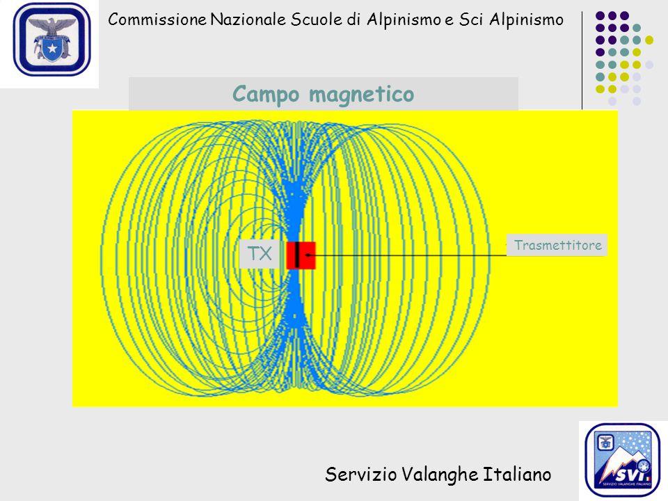 Campo magnetico TX Servizio Valanghe Italiano