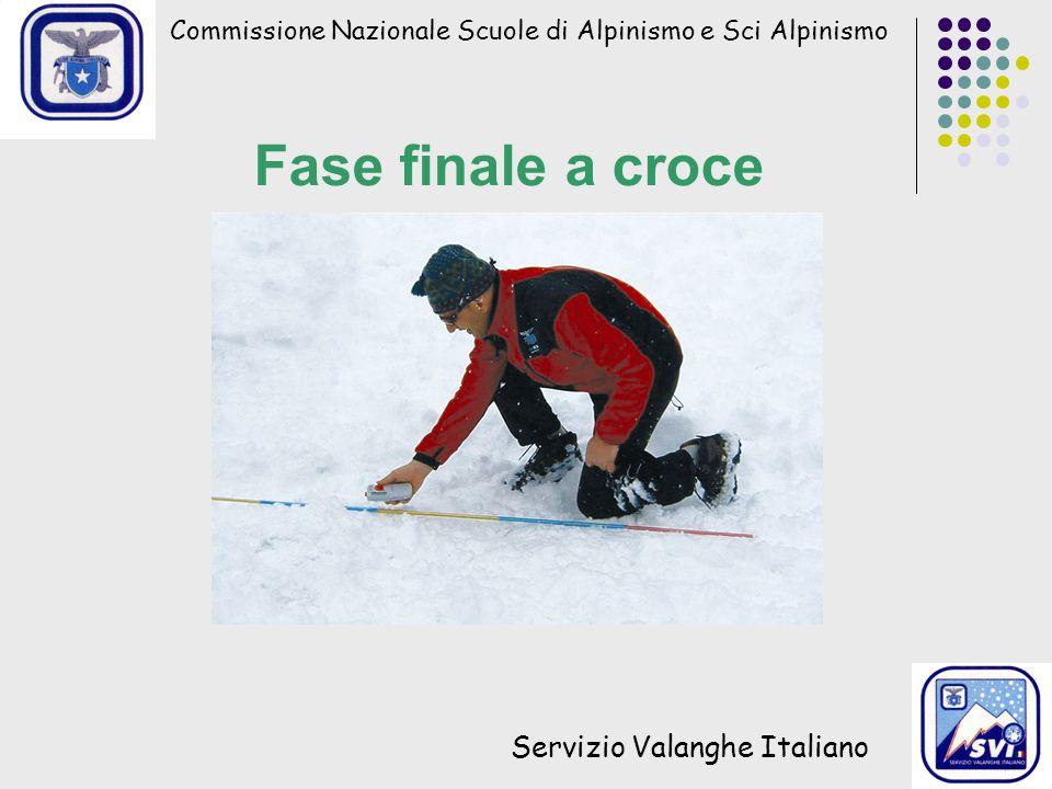 Fase finale a croce Servizio Valanghe Italiano
