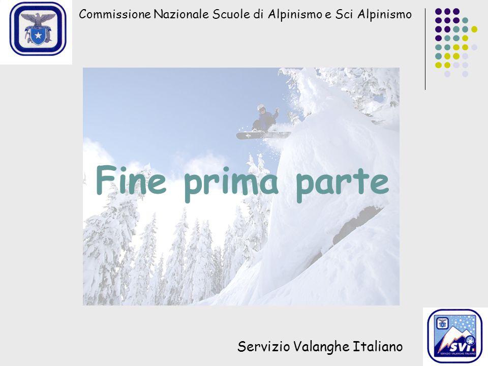 Fine prima parte Servizio Valanghe Italiano