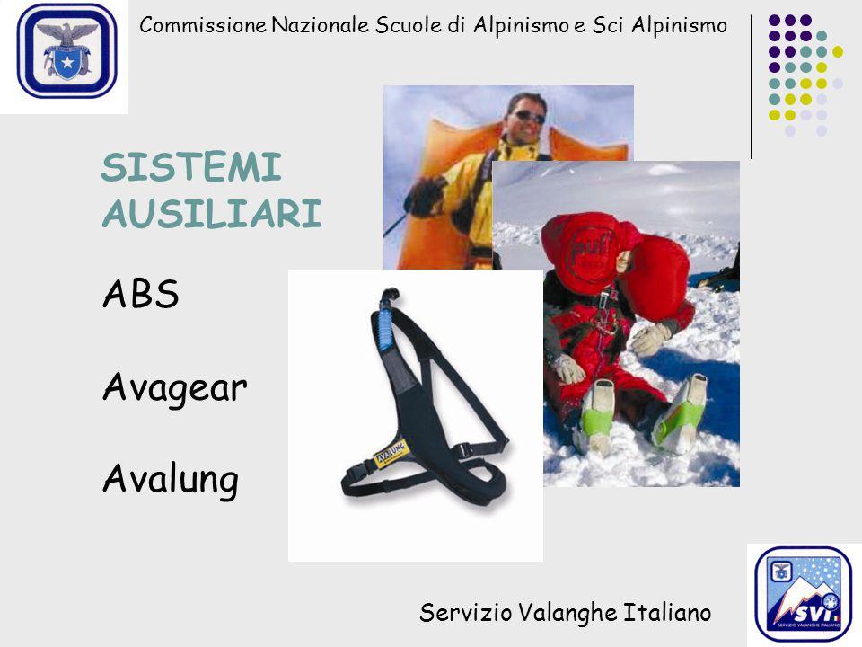 SISTEMI AUSILIARI ABS Avagear Avalung Servizio Valanghe Italiano