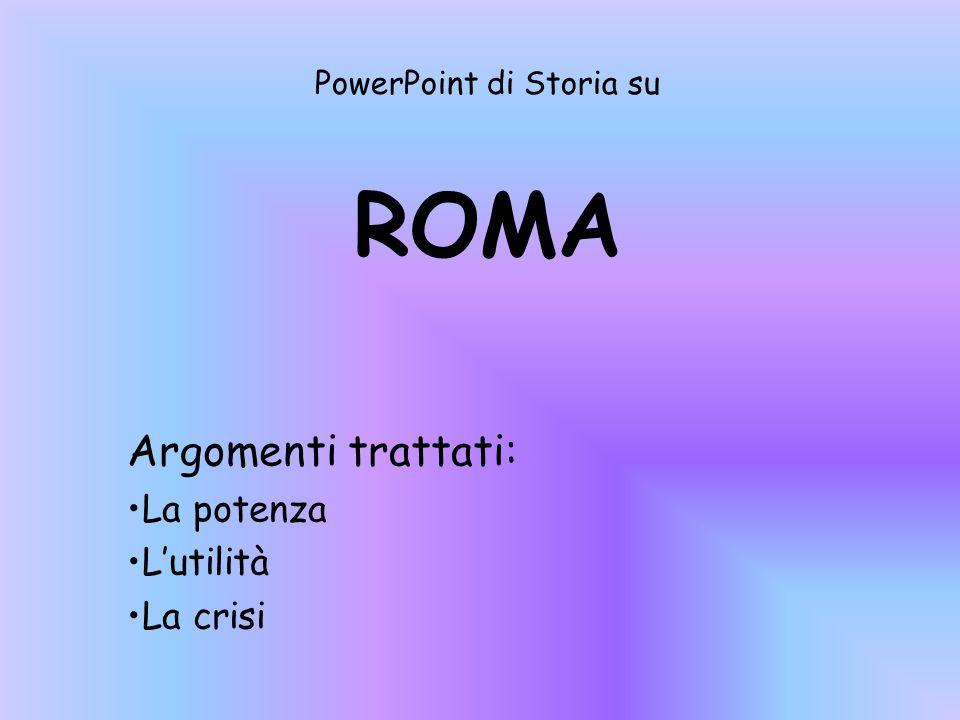 PowerPoint di Storia su ROMA