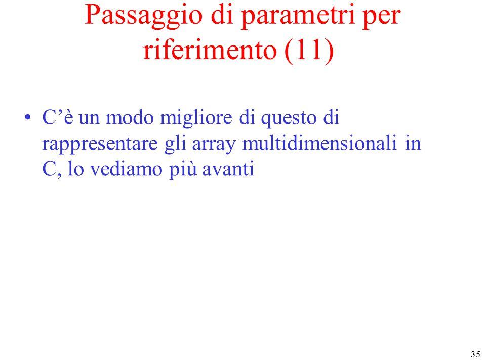 Passaggio di parametri per riferimento (11)