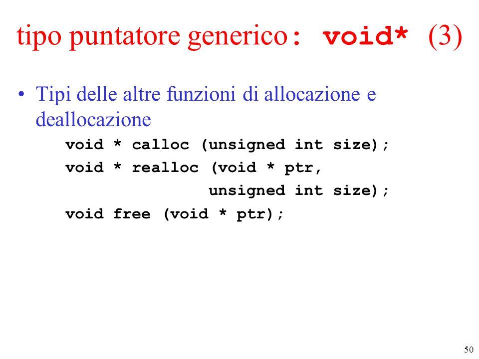tipo puntatore generico: void* (3)