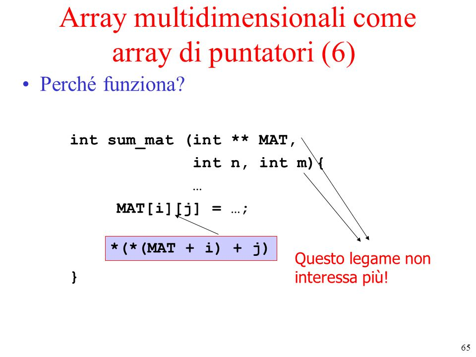 Array multidimensionali come array di puntatori (6)