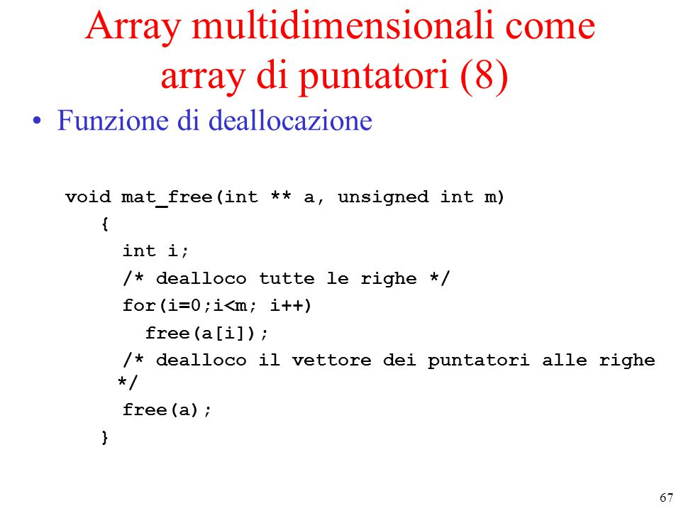 Array multidimensionali come array di puntatori (8)