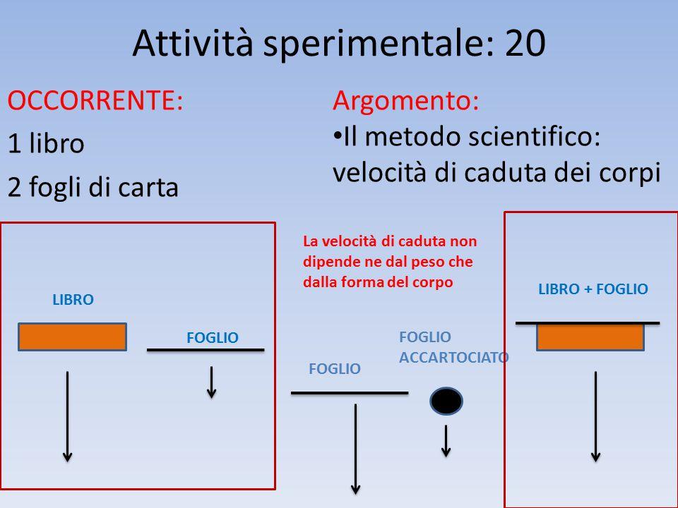 Attività sperimentale: 20