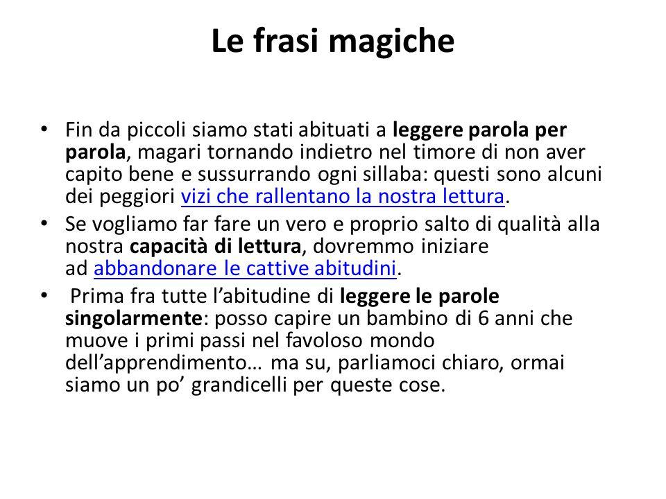 Le frasi magiche