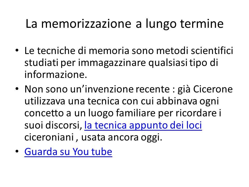 La memorizzazione a lungo termine