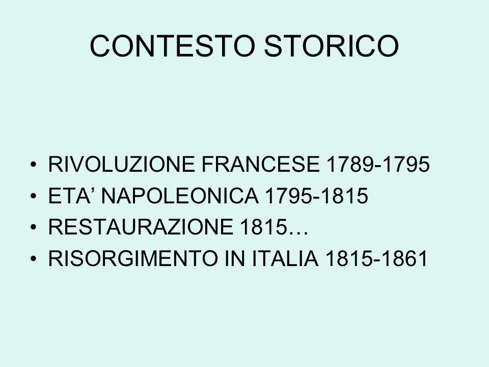 CONTESTO STORICO RIVOLUZIONE FRANCESE 1789-1795