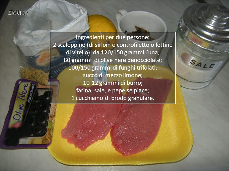 Ingredienti per due persone: