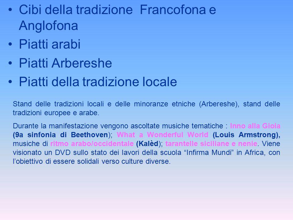 Cibi della tradizione Francofona e Anglofona Piatti arabi