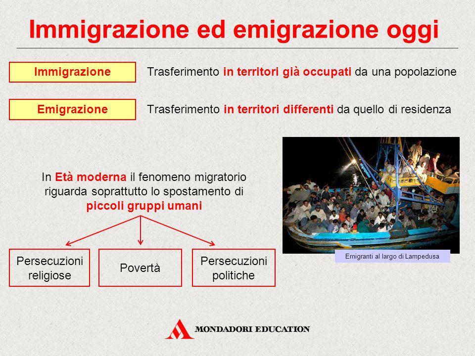 Immigrazione ed emigrazione oggi