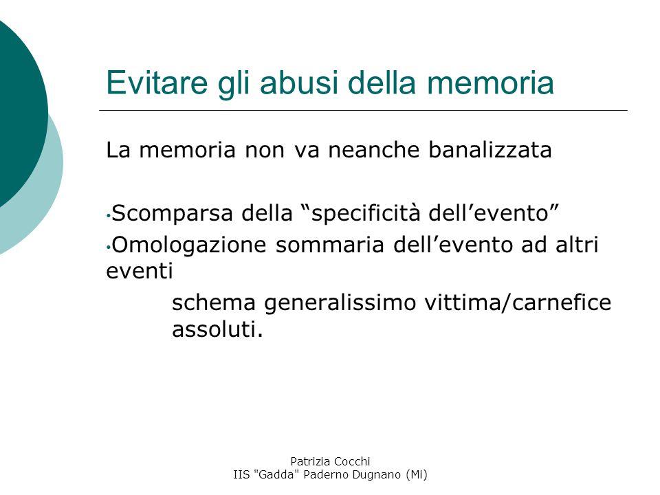 Evitare gli abusi della memoria