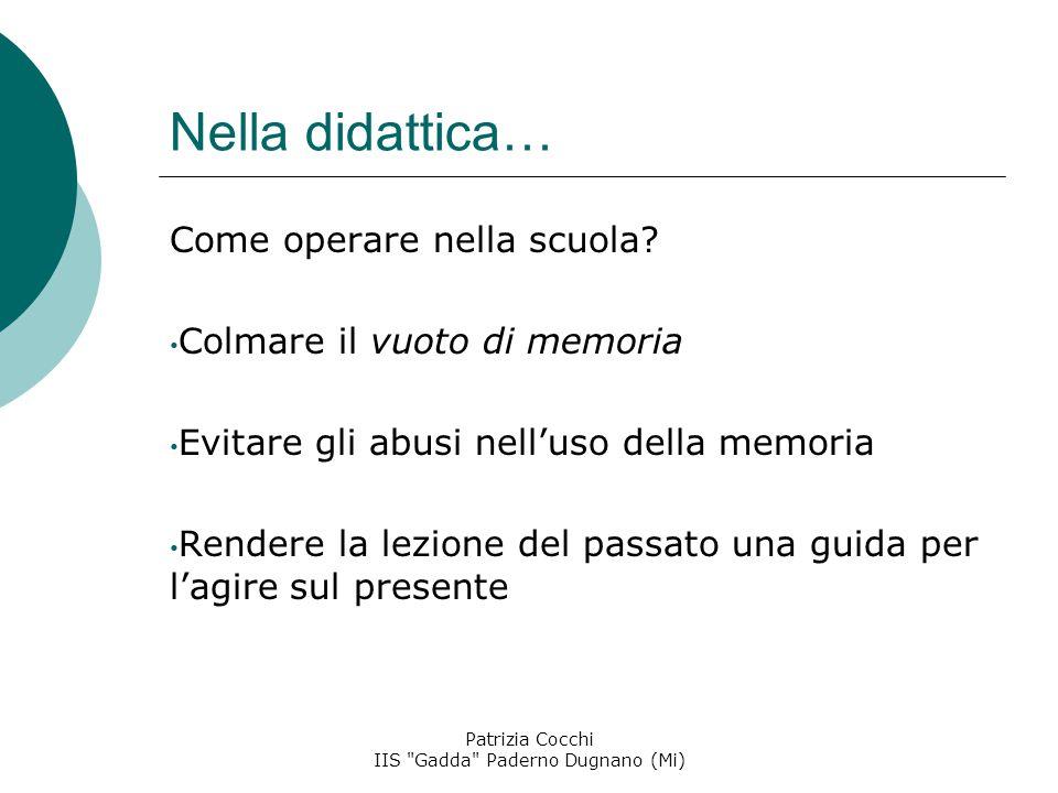 Patrizia Cocchi IIS Gadda Paderno Dugnano (Mi)